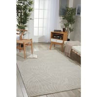 Nourison Hand-tufted Contours Striped Ivory Rug - 8' x 10'6