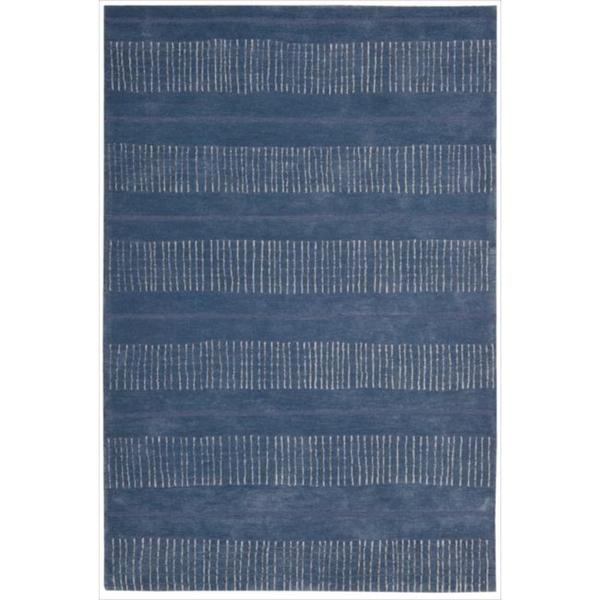 Nourison Hand-tufted Contours Striped Denim Rug - 7'3 x 9'3