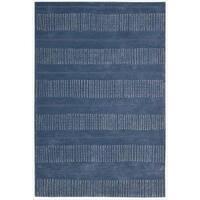 Nourison Hand-tufted Contours Striped Denim Rug - 7'3 x 9'3