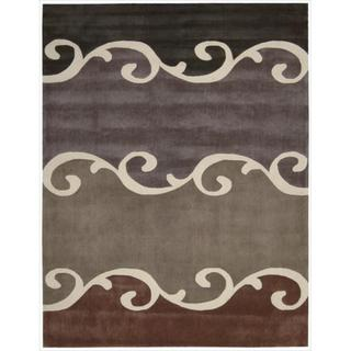 Nourison Hand tufted Contours Mocca Rug (7'3 x 9'3)
