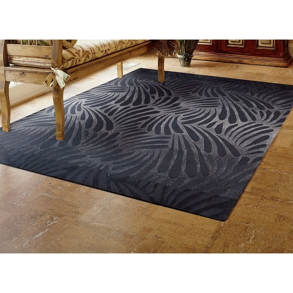Nourison Hand-tufted Contours Charcoal Rug - 7'3 x 9'3