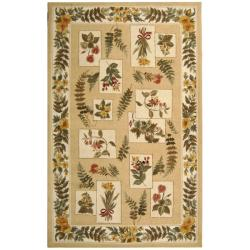 """Safavieh Hand-hooked Chelsea Floral Ivory Wool Rug - 7'9"""" x 9'9"""" - Thumbnail 0"""