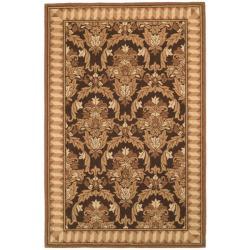 Safavieh Hand-hooked Chelsea Leaves Brown/ Beige Wool Rug (5'3 x 8'3)