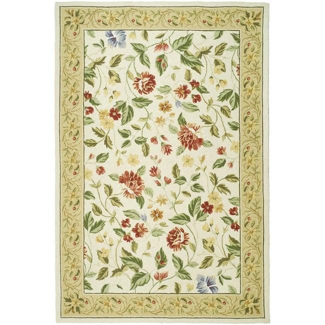 Safavieh Hand-hooked Chelsea Gardens Ivory Wool Rug - 8'9 X 11'9