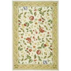 Safavieh Hand-hooked Chelsea Gardens Ivory Wool Rug - 8'9 x 11'9 - Thumbnail 0