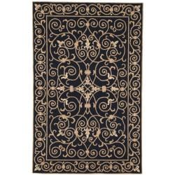 Safavieh Hand-hooked Chelsea Irongate Black Wool Rug (3'9 x 5'9)