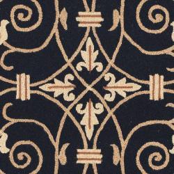 Safavieh Hand-hooked Chelsea Irongate Black Wool Rug (5'3 x 8'3) - Thumbnail 2