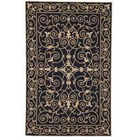 Safavieh Hand-hooked Chelsea Irongate Black Wool Rug - 5'3 x 8'3