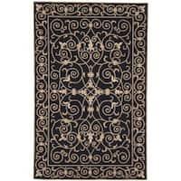 Safavieh Hand-hooked Chelsea Irongate Black Wool Rug - 6' x 9'