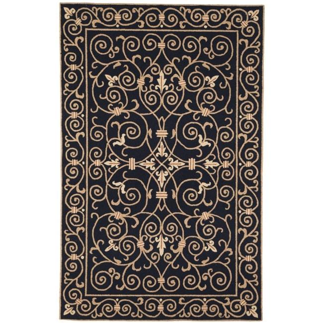 Safavieh Hand-hooked Chelsea Irongate Black Wool Rug (8'9 x 11'9)