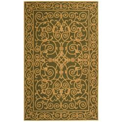 Safavieh Hand-hooked Chelsea Irongate Light Green Wool Rug - 7'6 x 9'9 - Thumbnail 0