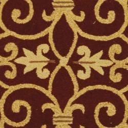 Safavieh Hand-hooked Chelsea Irongate Burgundy Wool Rug (2'6 x 12') - Thumbnail 2
