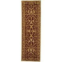 Safavieh Hand-hooked Chelsea Irongate Burgundy Wool Rug (2'6 x 8') - 2'6 x 8'