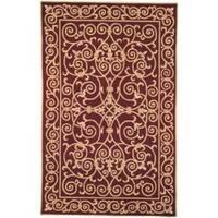 Safavieh Hand-hooked Chelsea Irongate Burgundy Wool Rug - 6' x 9'