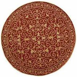 Safavieh Hand-hooked Chelsea Irongate Burgundy Wool Rug (4' Round)