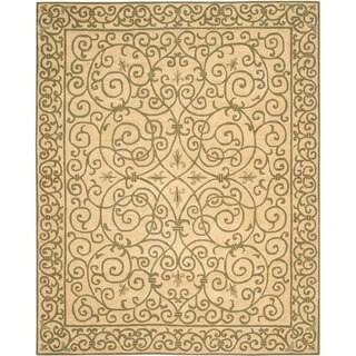 Safavieh Hand-hooked Chelsea Irongate Yellow Wool Rug (8'9 x 11'9)