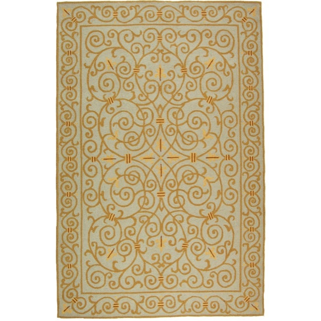 Safavieh Hand-hooked Chelsea Irongate Light Blue Wool Rug - 7'6 x 9'9