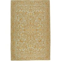 Safavieh Hand-hooked Chelsea Irongate Light Blue Wool Rug - 8'9 X 11'9