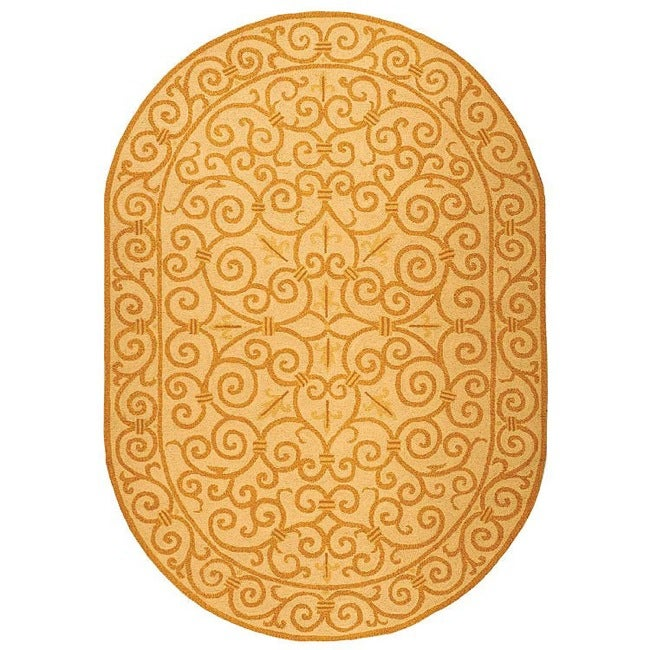 Safavieh Hand Hooked Chelsea Irongate Ivory Gold Wool Rug