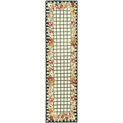 Safavieh Hand-hooked Chelsea Fruits Ivory Wool Rug (2'6 x 6')