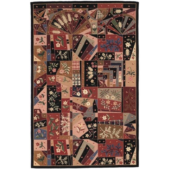 Safavieh Hand-hooked Chelsea Mosaic Wool Rug (7'6 x 9'9) - 7'6 x 9'9