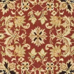 Safavieh Hand-hooked Chelsea Fall Tabriz Red Wool Rug (7'6 x 9'9)