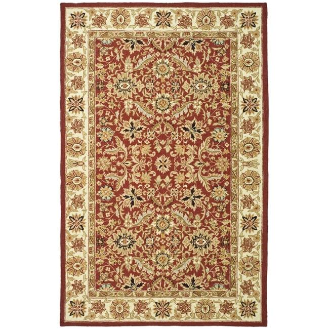 Safavieh Hand-hooked Chelsea Fall Tabriz Red Wool Rug - 8'9 X 11'9