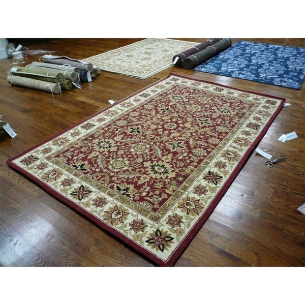"Safavieh Hand-hooked Chelsea Fall Tabriz Red Wool Rug - 8'-9"" x 11'-9"""