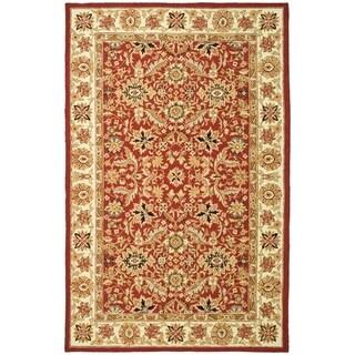Safavieh Hand-hooked Chelsea Janay Country Oriental Wool Rug (89 x 119 - Red/Ivory)