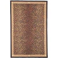 """Safavieh Hand-hooked Chelsea Leopard Brown Wool Rug - 3'9"""" x 5'9"""""""