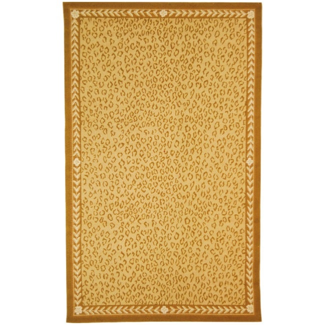 Safavieh Hand-hooked Chelsea Leopard Ivory Wool Rug - 8'9 X 11'9