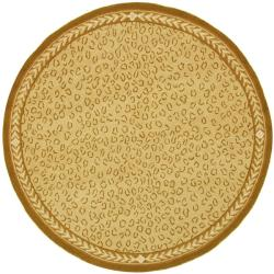 Safavieh Hand-hooked Chelsea Leopard Ivory Wool Rug (8' Round)