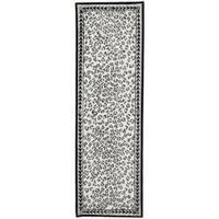 Safavieh Hand-hooked Chelsea Leopard White Wool Rug (2'6 x 12') - 2'6 x 12'