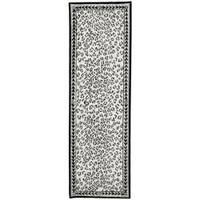 Safavieh Hand-hooked Chelsea Leopard White Wool Rug (2'6 x 8') - 2'6 x 8'