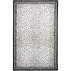 Safavieh Hand-hooked Chelsea Leopard White Wool Rug (8'9 x 11'9)