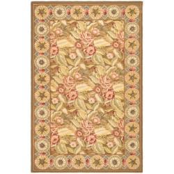 """Safavieh Hand-Hooked Chelsea Floral-Print Wool Rug (5'3"""" x 8'3"""")"""