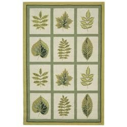 Safavieh Hand-hooked Chelsea Panels Ivory Wool Rug - 8'9 x 11'9 - Thumbnail 0
