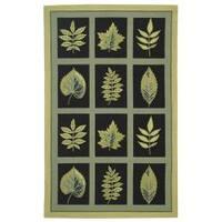 Safavieh Hand-hooked Chelsea Panels Black Wool Rug - 8'9 X 11'9