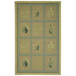 Safavieh Hand-hooked Chelsea Panels Tan Wool Rug (7'6 x 9'9)