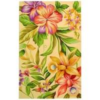 "Safavieh Hand-hooked Botanical Ivory Wool Rug - 7'9"" x 9'9"""