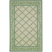 Safavieh Hand-hooked Trellis Ivory/ Light Green Wool Rug - 8'9 X 11'9