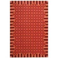 Safavieh Hand-hooked Chelsea Wine Red Wool Rug - 5'3 x 8'3