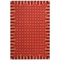 Safavieh Hand-hooked Chelsea Wine Red Wool Rug - 7'6 x 9'9