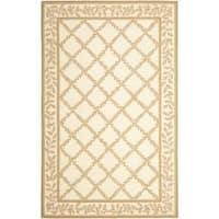 Safavieh Hand-hooked Trellis Ivory/ Beige Wool Rug - 6' x 9'
