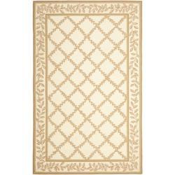 Safavieh Hand-hooked Trellis Ivory/ Beige Wool Rug (8'9 x 11'9)