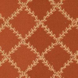 Safavieh Hand-hooked Trellis Rust/ Beige Wool Rug (6' x 9') - Thumbnail 2