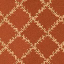 Safavieh Hand-hooked Trellis Rust/ Beige Wool Rug (7'6 x 9'9)