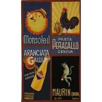"""Safavieh Hand-hooked Vintage Poster Black Wool Rug - 2'9"""" x 4'9"""""""