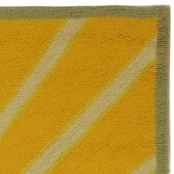 Safavieh Hand-hooked Vintage Poster Sage Wool Rug (2'6 x 4') - Thumbnail 1