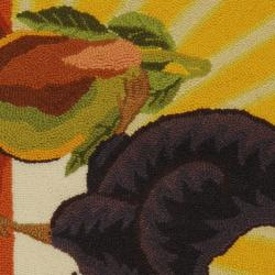 Safavieh Hand-hooked Vintage Poster Sage Wool Rug (2'6 x 4') - Thumbnail 2